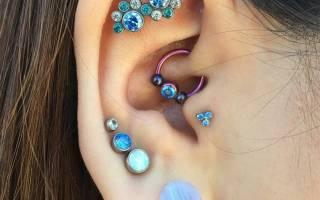 Всё о пирсинге уха: разновидности, рекомендации по уходу и противопоказания