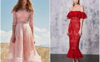 Модные кружевные платья: восхитительное очарование ажурных узоров