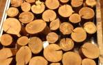 Приставной столик из среза дерева