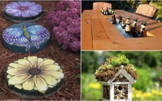 Как украсить двор частного дома своими руками из ненужных вещей