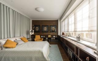Интерьер недели: стильная двушка с окном в спальне