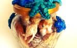 Декор баночки с воспоминаниями о море
