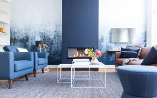 Квартира в голубых и бежевых тонах