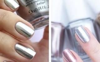 Втирка для ногтей: благородные переливы зеркальной поверхности