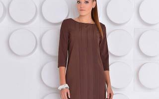 Модное коричневое платье: 70 идей для делового и вечернего образа