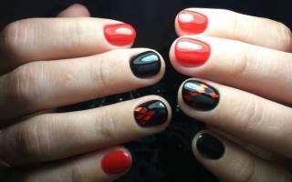 Шикарный черно-красный маникюр: 100+ идей для яркого нейл-дизайна