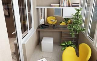 Балкон недели: мини-офис в застекленной лоджии