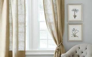 Простые шторы из мешковины своими руками