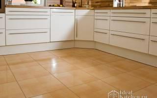 Кафель на пол на кухню с фото