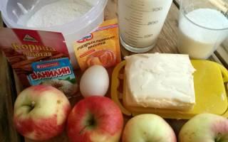Нежный и вкусный яблочный пирог со сметанной заливкой