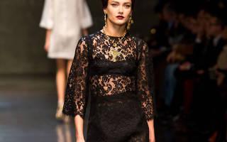 Модные черные кружевные платья: 70 королевских нарядов на каждый день