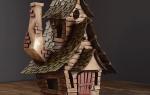 Волшебные городские дома из картонных коробок