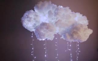 Необычная лампа-облако своими руками