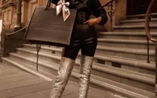 С чем носить ботфорты? Стильные сочетания в 2020 году