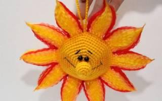 Вяжем крючком интерьерное украшение «Солнышко»: мастер-класс для начинающих