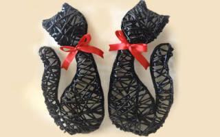 Очаровательные кошечки из бросового материала