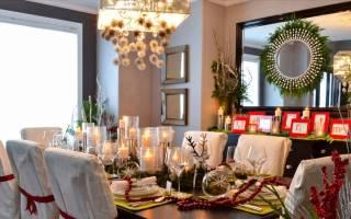 Украшаем зал на новый год