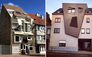 Высокий и узкий дом в Бельгии