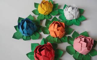 Искусство оригами: Делаем бумажные цветы