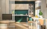 Монохромный минимализм: проект квартиры площадью 47 квадратных метров