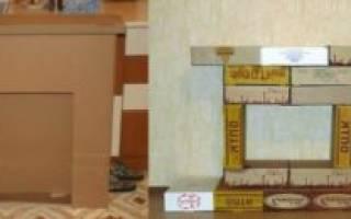 Как сделать камин своими руками из коробок: варианты с фото