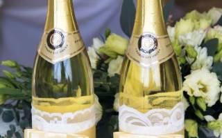 Оформление бутылки шампанского на Новый год: мастер-класс