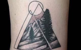 Значение треугольника в искусстве татуировки