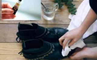 Как убрать суперклей с обуви?