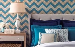 Современный дизайн обоев в интерьере спальни