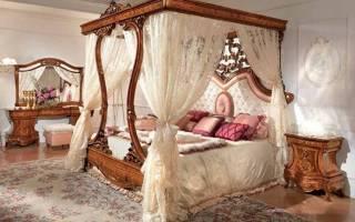 Кровать с балдахином: 40 романтичных примеров