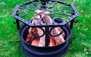 Печи и мангалы из колесных дисков