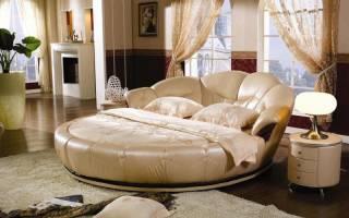 Круглые двуспальные кровати в интерьере спальни: стильно и необычно