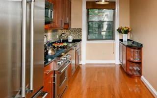 6 вариантов планировки узкой кухни в типовом доме