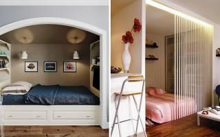 Интерьер недели: небольшая квартира со спальней в нише