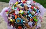 Букеты из конфет: пошаговые мастер-классы