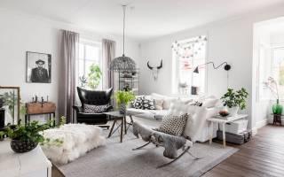 Современная классика в интерьере: квартира в Швеции
