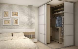 Дизайн гардеробной в спальне с фото