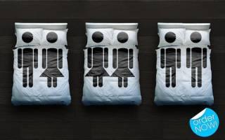 20 примеров необычного постельного белья