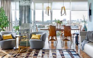 Легкая классика + яркие акценты: квартира на Цветном бульваре
