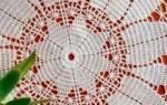 Простые круглые декоративные салфетки