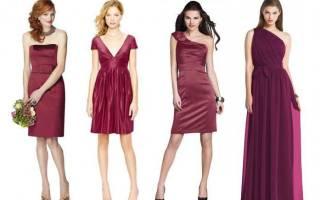 Модное бордовое платье: 70+ восхитительных и женственных образов