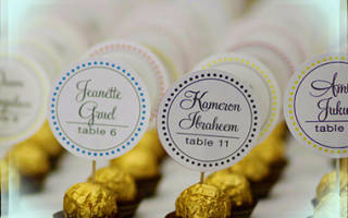 Лёгкие и быстрые в изготовлении оригинальные рассадочные карточки для ваших гостей