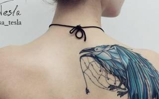 Впечатляющие татуировки ворона для мужчин и женщин: идеи, значение, эскизы
