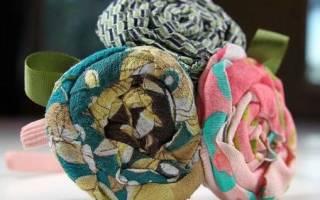 Цветок из ткани за 5 минут — проще не бывает!