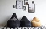 Мастер-класс: напольные подушки-пуфы