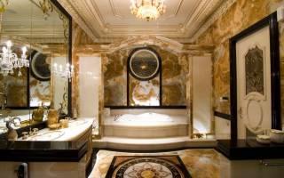 24 роскошные, необычные и смелые ванные комнаты