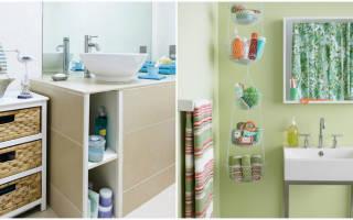10 умных идей для хранения в маленькой ванной комнате